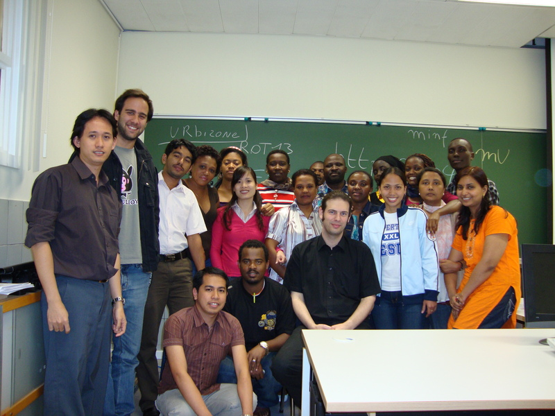 Frederik Questier with participants of Stimulate 9 workshop